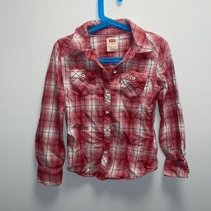 Levi's red flannel button up shirt size 6X